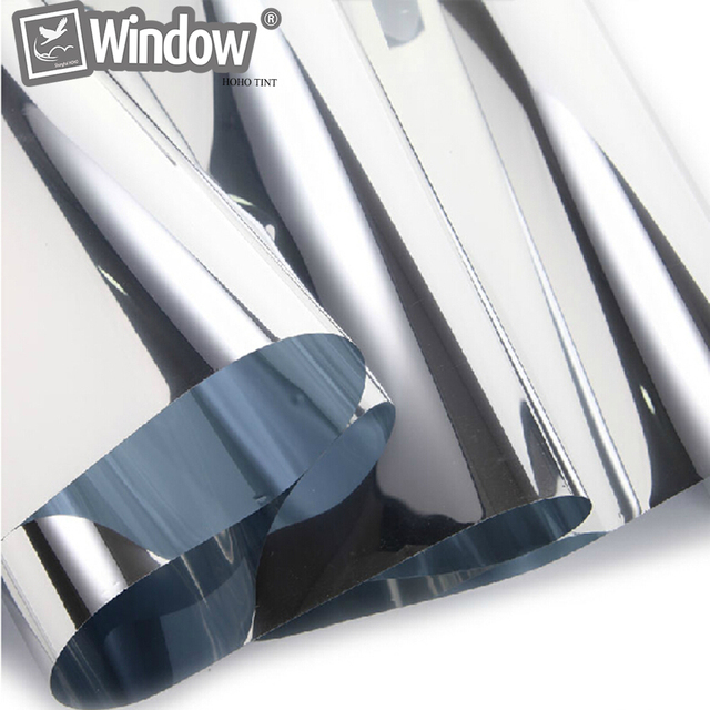 "Home Mirror Tint Silver 20% 20""x 10' Reflective Window Film Home Films 10 foot roll"