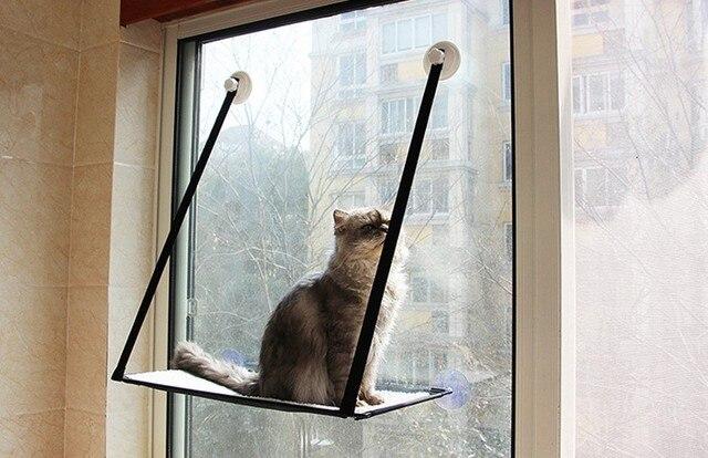Cat Kitty Basking Window Hammock Perch Cushion Bed Hanging