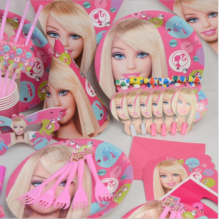 People Decorating For A Party 90pcs/barbie doll theme package decorating supplies 6 people