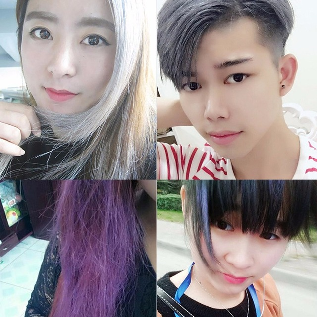 7 Colorful Fashion Hair Coloring Cream Styling One-Time DIY Color Hair Wax Disposable Temporary Hair Dye Mud Grandma Gray Purple 4