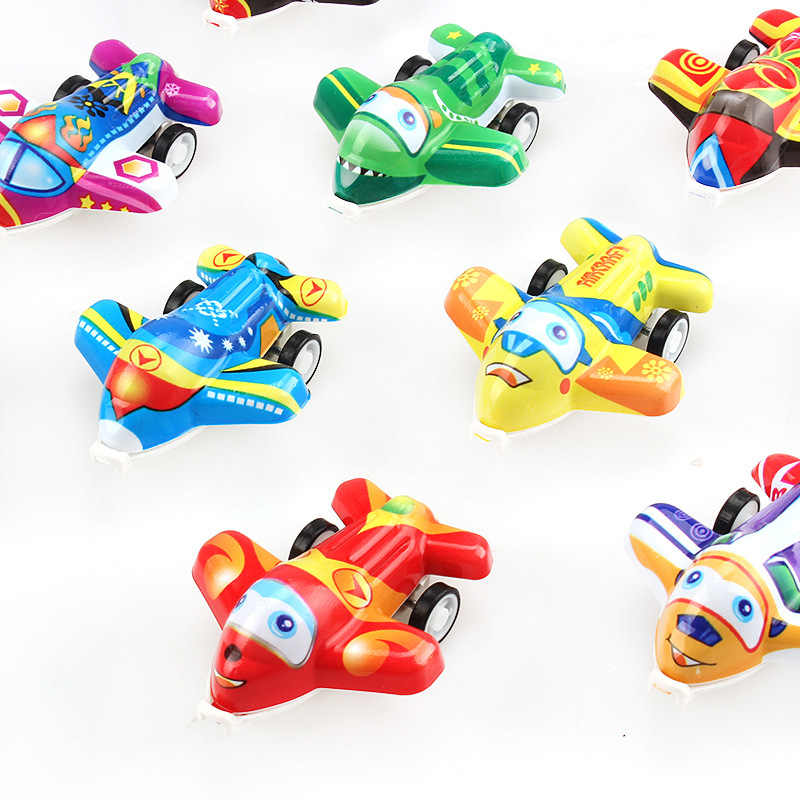 Small Plane Toys Cute Plastic Pull Back Cars Toy Cars for Child Wheels Mini Car Model Funny Kids Toys for Boys Girls