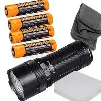 Fenix FD65 3800 люмен Высокая производительность фокусируемые Масштабируемые светодиодный фонарик с 4x3500 мАч 18650 Перезаряжаемые батареи