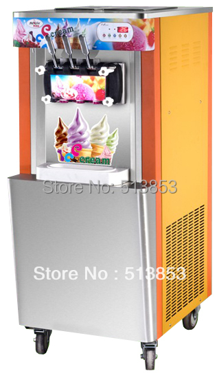 New Arrival Discount sales Upright Ice Cream Making Machine/ Icecream Maker/ Soft ice cream maker Ourput 22~25 liters/H edtid new high quality small commercial ice machine household ice machine tea milk shop