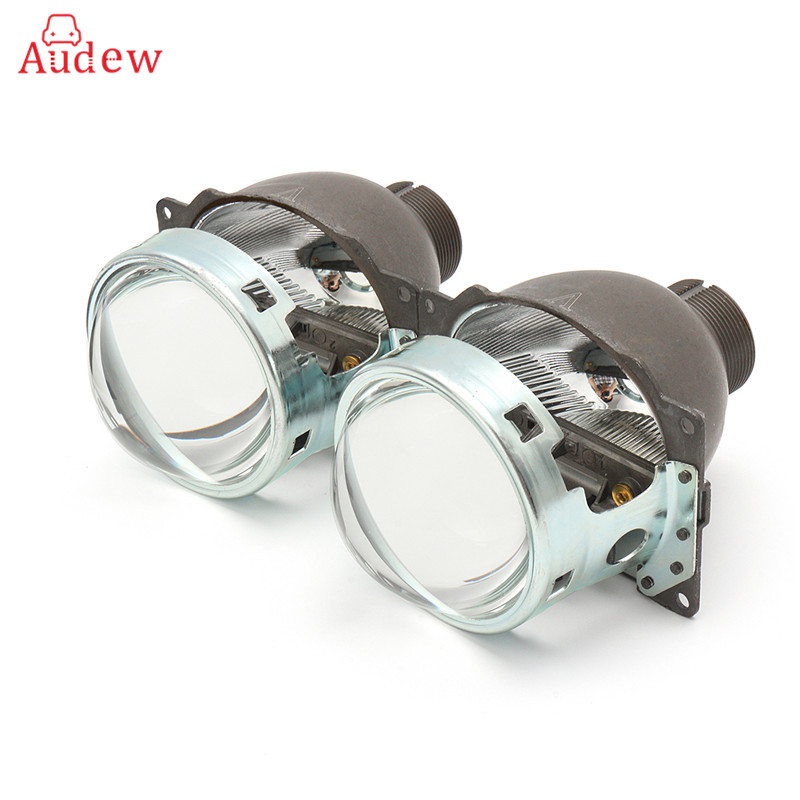 2Pcs Projector Lens 3 Inches Q5 D2H D2S Bi-xenon/HID Bi-xenon Projector Retrofit Lens Hi/Lo Beam LHD For H4 Car Headlight square custom made nearsighted minus prescription black frame green lens double beam polarized 1 1 5 2 2 5 3 3 5 4 5 6