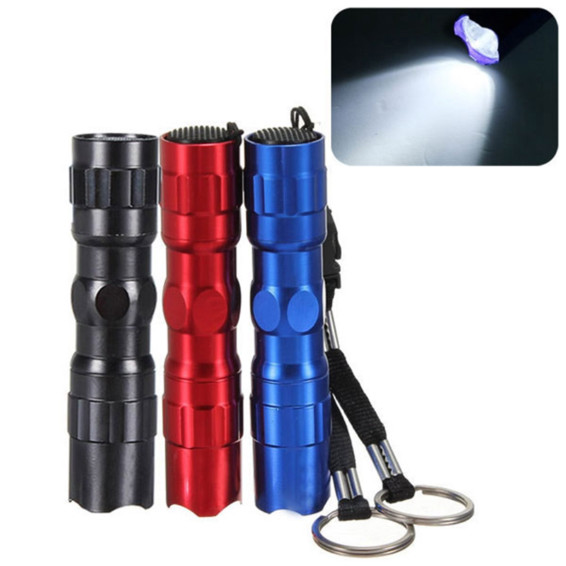 New Waterproof Mini LED 3W Aluminum Handy Flashlight Pocket Keychain Torch Light for Household Outdoor Camping Lamp