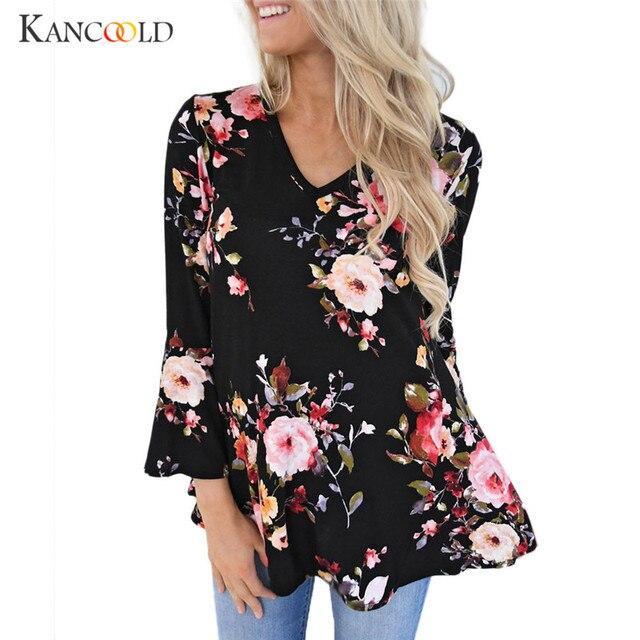 8335e25c55e37b Blouses blusas solid women s shirts Casual black floral blouse womens flower  print blouse big plus size chemise tops Shirts JN4A