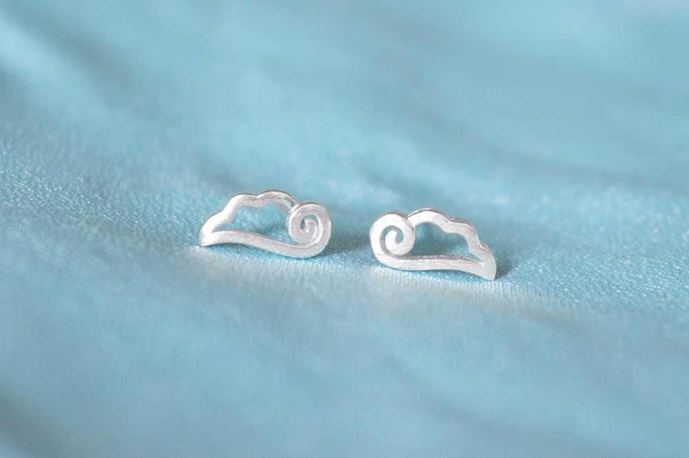 CHENGXUN 1 paire hypoallergénique Animal ange ailes couleur argent oreille boucles d'oreilles bijoux nouvelle mode