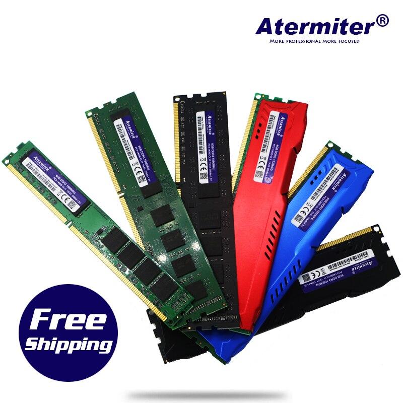 Atermiter PC RAM bellek Memoria modülü bilgisayar masaüstü DDR3 2GB 4GB 8GB PC3 1333 1600 MHZ 1333MHZ 1600 MHZ 10600 12800 2G 4G RAM