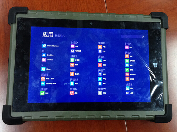 2 USB port, ethernet windows and android rugged tablet
