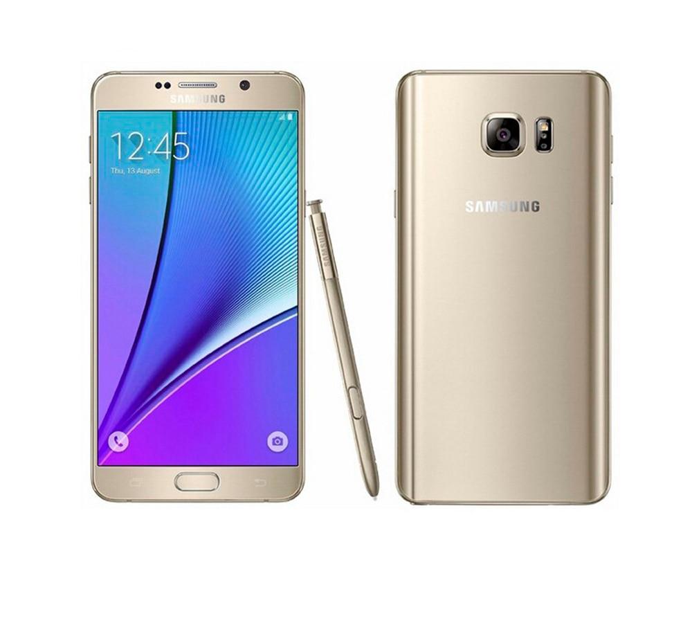 Цена за Оригинальный Разблокирована Samsung Galaxy Note 5 Note5 N920P/V/5.7 Дюймов 2 К экран 4 ГБ 32 ГБ 16.0MP камера Восстановленное телефон