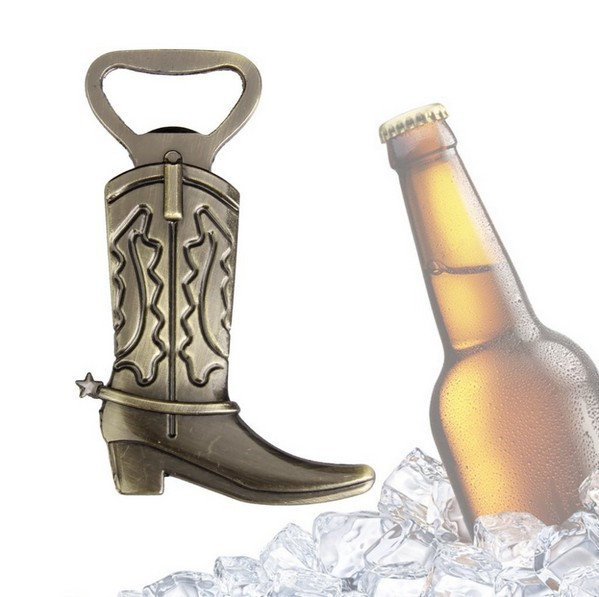 Fast shipping Bottle Opener Hitched Cowboy Boot Western Birthday Bridal Wedding Favors And Gifts Party Cute Tool