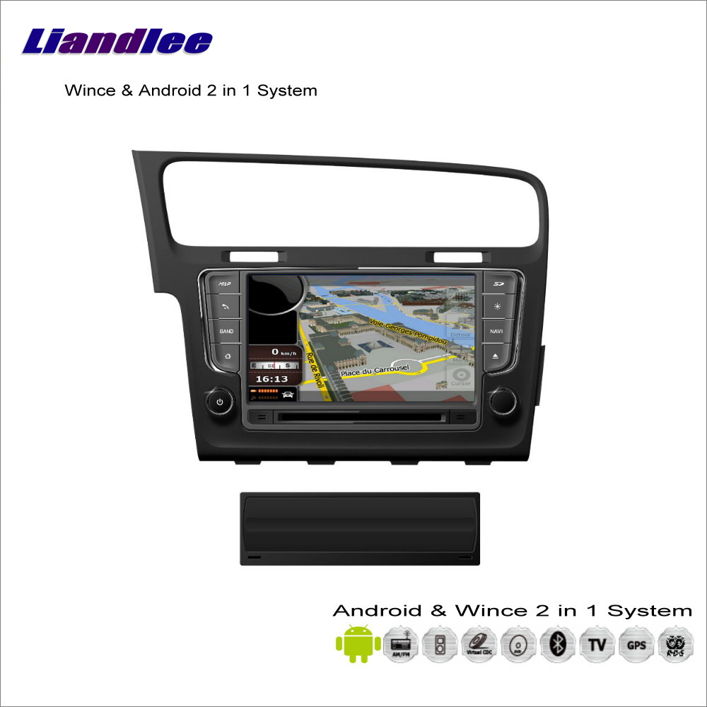 Liandlee Car Android Multimedia Stereo For VW Golf MK7 / Wagon 2012~2016 Radio CD DVD Player GPS Nav Navi Navigation Audio Video