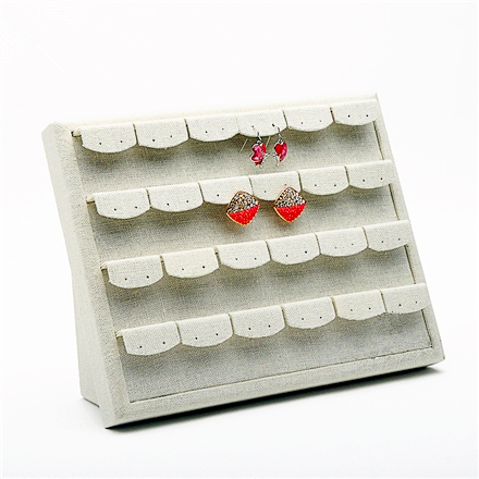 Linen Earrings Holder Display Stand On Wall Or Up Bust Showcase Jewellery In Jewelry Packaging From