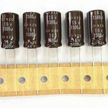 10 шт. 1500 мкФ 16 В оригинальный NCC kzg серии 10×20 мм супер низким ESR 16v1500uf Алюминий электролитический конденсатор