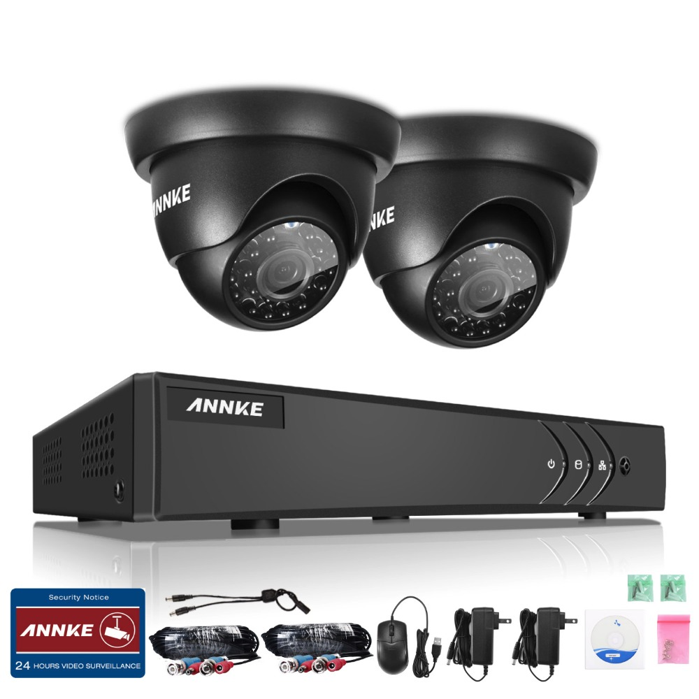 ANNKE 4CH 1080N TVI 4in1 DVR 1500TVL 720P Video Outdoor Security Camera System