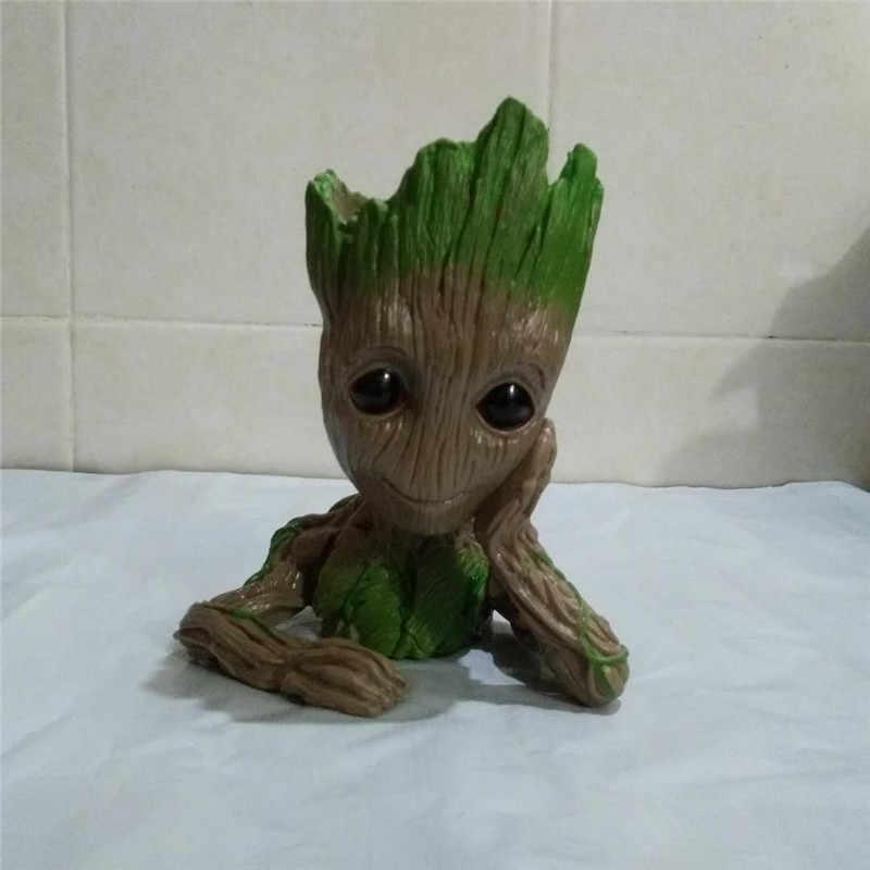 Pcs Bebê 6 Groot Vaso Vaso de Flores Árvore Homem Bonito Modelo Figuras De Brinquedo Caneta Pote Pote Plantador Do Jardim Presente para do feriado do aniversário