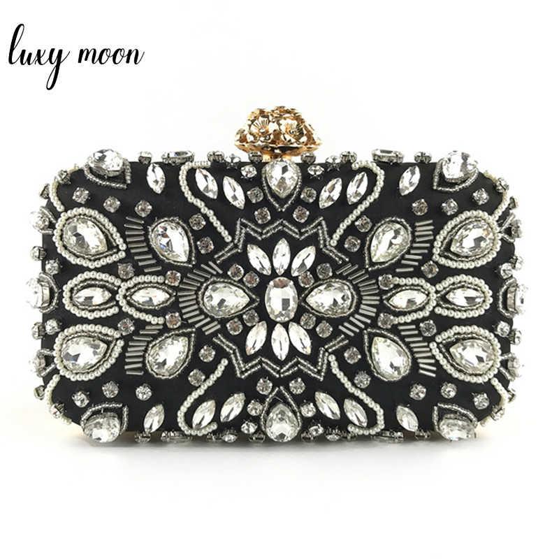 e142dde9ecc Luxury Women Evening Bags Fashion Beaded Diamond Rhinestone Evening Clutch  Bag Bridal Wedding Purse Chain Handbag