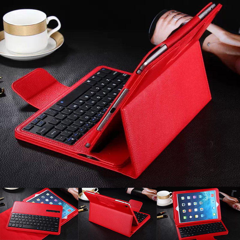 Flip Back Cover PU Leather Cover Case For iPad Pro Bluetooth Silicone Keyboard Stand Tablet Cases Cover For iPad Pro 12.9 inch