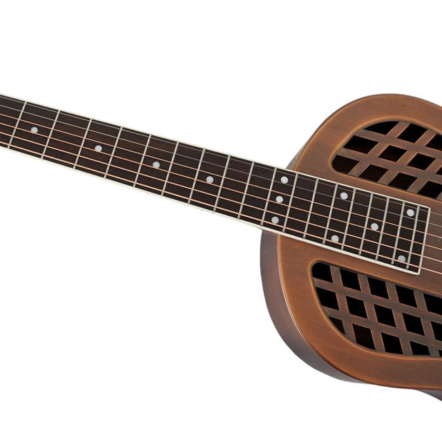 Aiersi Brand Antique Red Rust Bell Brass Metal Tricone Resonator Guitar Free Case and Strap 3