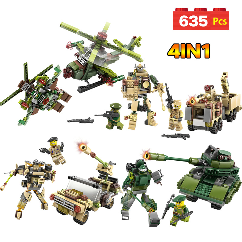 Military Fighter Green Tank Missile vehicle Technic Building Blocks Mini Action Figures Enlightening Weapons Toys For Kid the new hot promotions 1 30 military vehicles dongfeng 11a missile launch vehicle model alloy office decoration