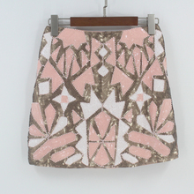 e31a62821b Retro 1920s Gatsby Flapper Party Skirt Geometric Colorblock Beaded Sequin  Skirt Women Pencil Skirt Jupe Falda. 3 Colors Available