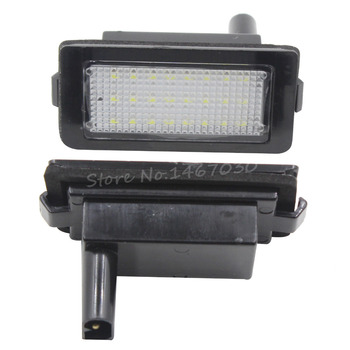 1 Pair 24 LEDs 3528 SMD License Plate Light For BMW E38 7 Series 740i 740iL 750iL 1995-2001 image