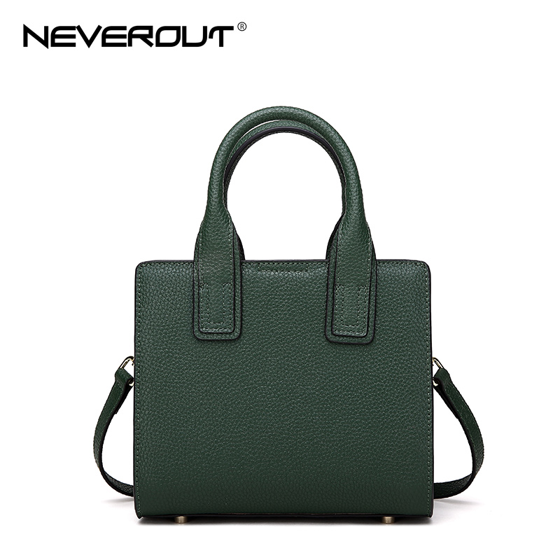 NEVEROUT 2018 New Arrival Women Bag Fashion Tote Split Leather Small Handbags Top-Handle Bags for Lady Solid Shoulder Bags Sac neverout oil wax style split leather bag for women vintage boston bag shoulder sac 3 color handbags tote zipper tote new handbag