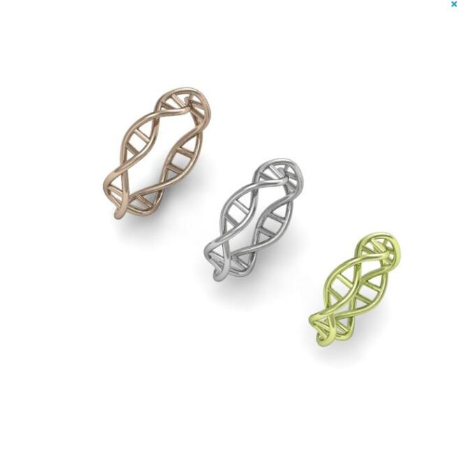 New Fashion DNA ring for women Chemistry Molecule Women Ring Minimalist Ring