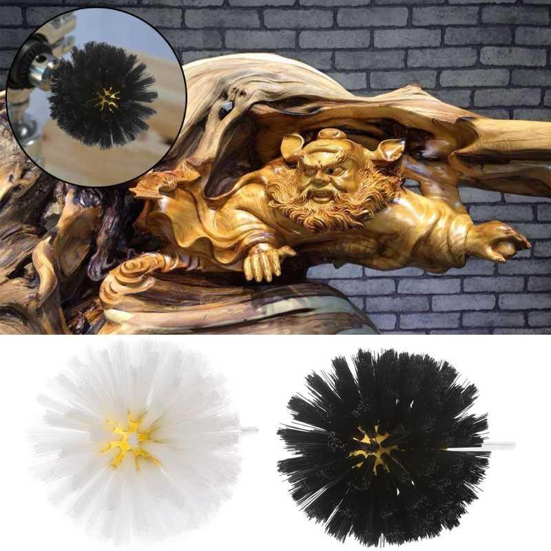 Deburring нейлоновая проволочная щетка головка Полировка шлифовальный инструмент полировка грибного колеса хвостовик для мебели скульптура из дерева роторная дрель
