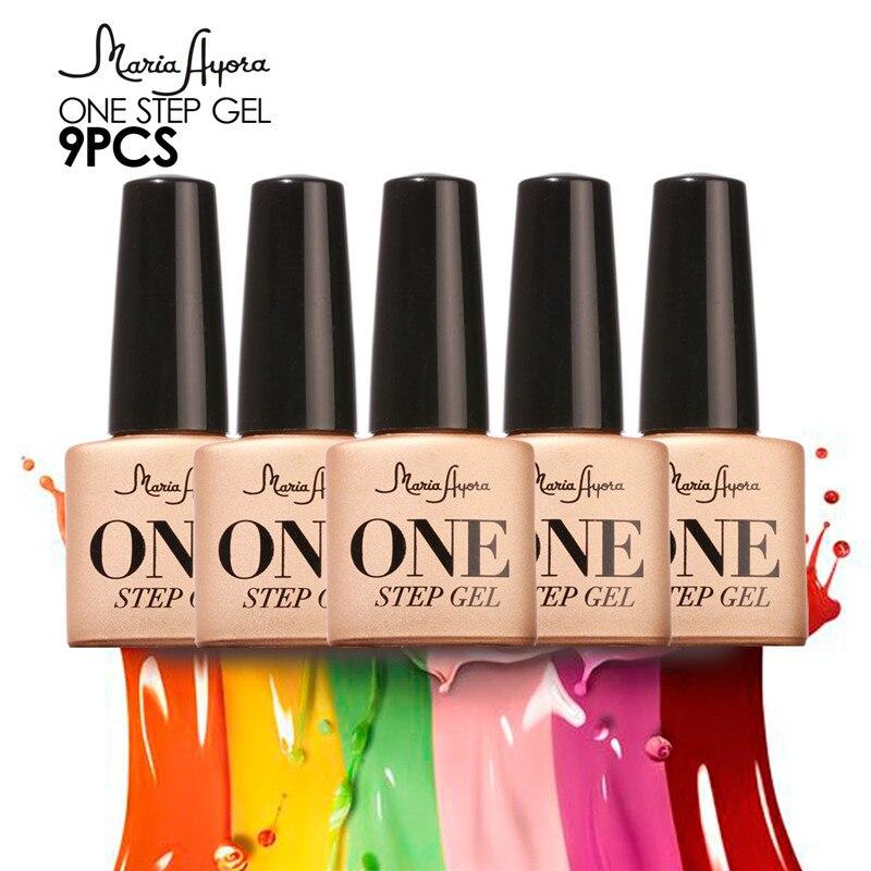 9 piezas 3 en 1 gel un paso Gel esmalte de uñas nail Gel polaco Soak Off Nail Gel