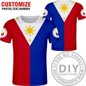 Image 2 - FILIPPINE maglietta fai da te numero nome personalizzato gratuito phl t shirt nazione bandiera ph repubblica pilipinas filippino stampa di testo foto abbigliamento