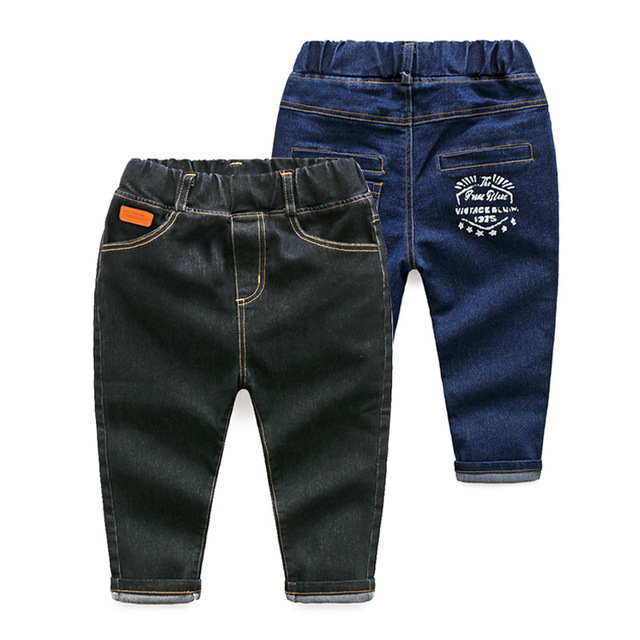 2017 Spring Children Jeans Pants Cotton Solid Straight England Style Kids Brands Clothes Boys Trousers Jeans Fashion Pants