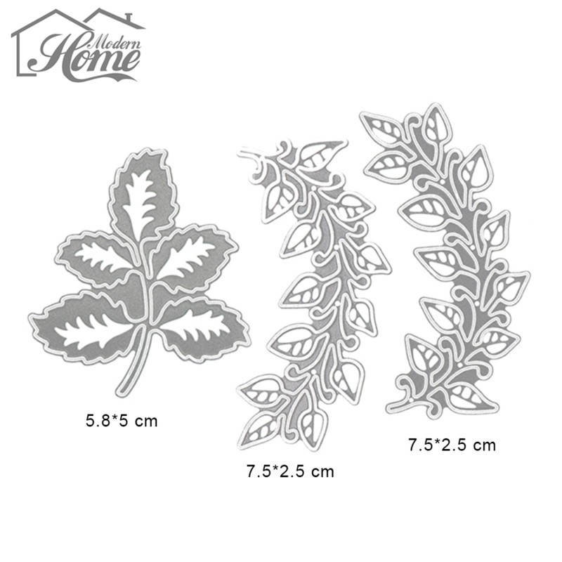 Image 3 - 3pcs Leaves Metal Cutting Dies Stencils For DIY Scrapbooking Album Decorative Embossing Template Folder Wedding Decor Die Cuts-in Cutting Dies from Home & Garden