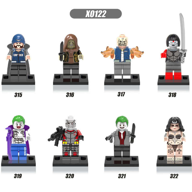 Single Sale Super Heroes Boomerang Joker Enchantress Killer Croc Katana Deadshot Suicide Squad Building Blocks Kids Toys