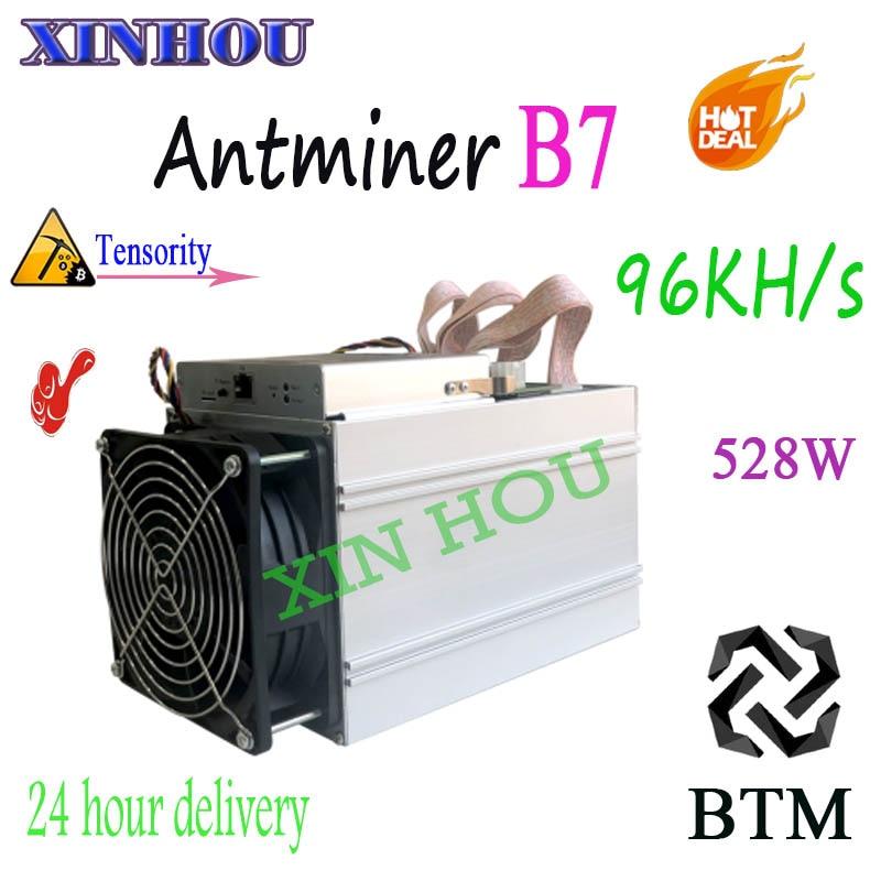 2019 nouveau mineur Asic Antminer B7 96KH/s 528 W Tensority Miner BTM minière mieux que antminer s9 S11 Innosilicon T2 yksminer M3