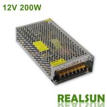 10 stks/partij 12 V 16.7A 200 W Stroomvoorziening Driver Switching Voor LED Strip Light Display 110 V/220 V