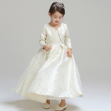 Baby Girls Lace embroidery  Long Sleeve Lace Jacket For Wedding Dress Party