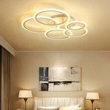 Circel 不規則なリングのためのベッドルームの家の AC85 265V 現代の Led シーリングランプ器具光沢 plafonnier