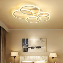 Circel irregular Rings Ceiling Lights For Living Room Bedroom Home AC85 265V Modern Led Ceiling Lamp Fixtures lustre plafonnier