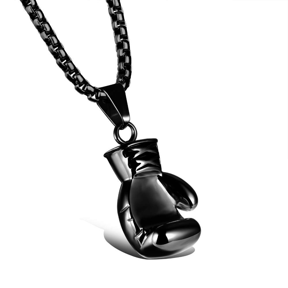 black-stainless-steel-boxing-glove-pendant-necklace-2