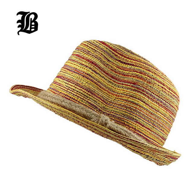[FLB] 2017 Fashion Unisex Solid Braid hats Trilby Gangster Cap Summer Beach Sun Straw Panama Hat Panama Hats Hot Sale