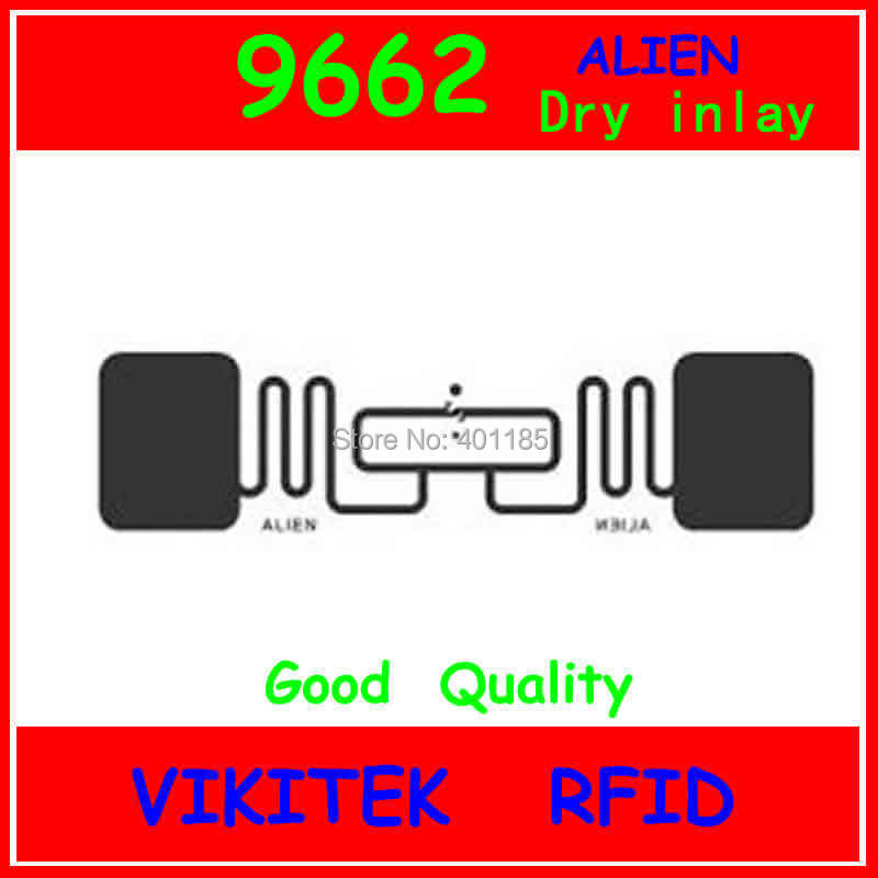 Alien authoried 9662 UHF RFID dry inlay 860-960MHZ Higgs3 915M EPC C1G2 ISO18000-6C can be used to RFID tag and label
