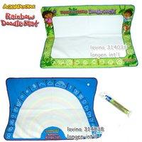 Envío gratis 2 pieza un montón Dora & Diego tamaño grande 90*65 CM Americana Aquadoodle de Aqua Doodle Mat & 1 Magic Pen/Reemplazo del Dibujo del Agua