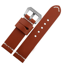 Handmade Soft Genuine Leather Watch Band For Pam 20 22 24mm Strap Men Watchbands For Tissots