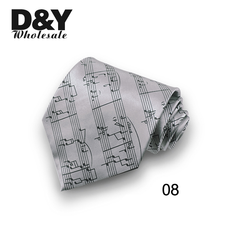 Brand New 10cm Wide Music Note Sound Spectrum  Mix Polyester Woven Classic Men`s Party Wedding Tie Gravata Free Shipping