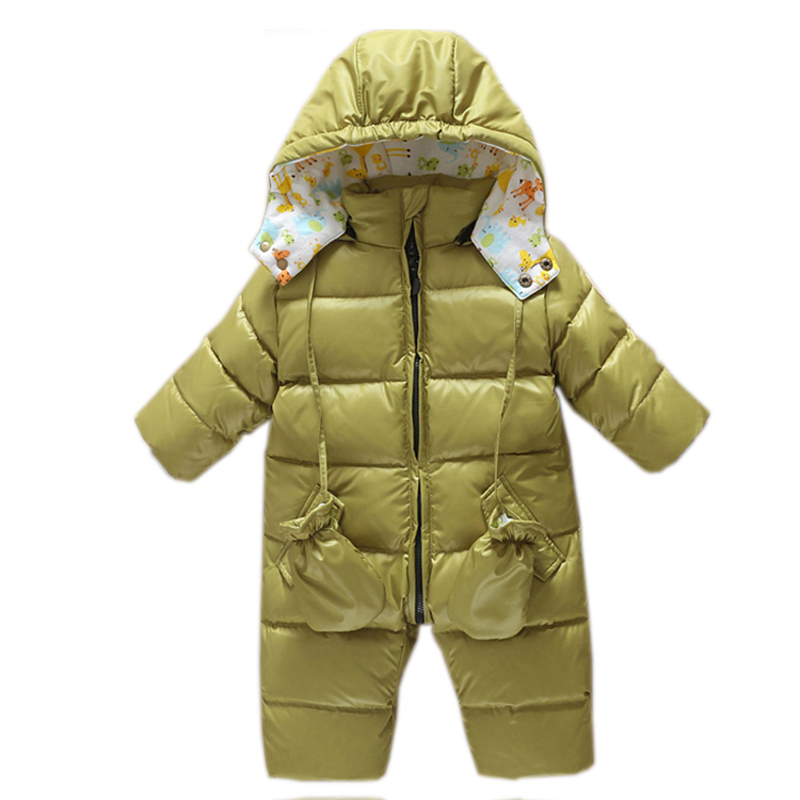 baby girl romper Snowsuit Duck down baby winter romper hoodies Newborn overalls winter clothes kids boys children jumpsuit