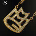 "JS Hip Hop Iced Out Maybach Music Group MMG Pendant Necklace 36"" Chunky Gold Silver Franco Chain Jewelry HN057"