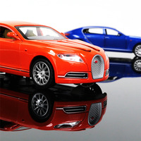 1 32 Collectible Alloy Diecast White Car Model Bugatti Veyron 16C Galibier Light Sound Pull Back