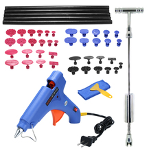 16 pcs set internal bore bearing puller removal kit inner hole slide hammer puller auto repair multi functional hardware tools Auto Car Paintless Dent Puller Tool Slide Hammer Repair Removal Hail Glue Gun Tools Kit