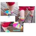 2016 Baby Girl Meias Bebe meias Barco Rainbow Tornozelo Bebê meias Abelha Algodão Na Altura Do Joelho de Alta não-deslizamento Recém-nascidos